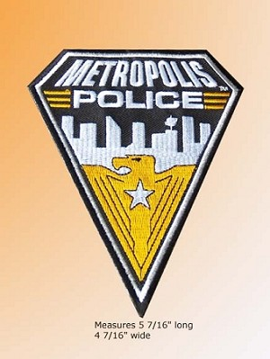 Metropolis Police Department embroidered Patch set